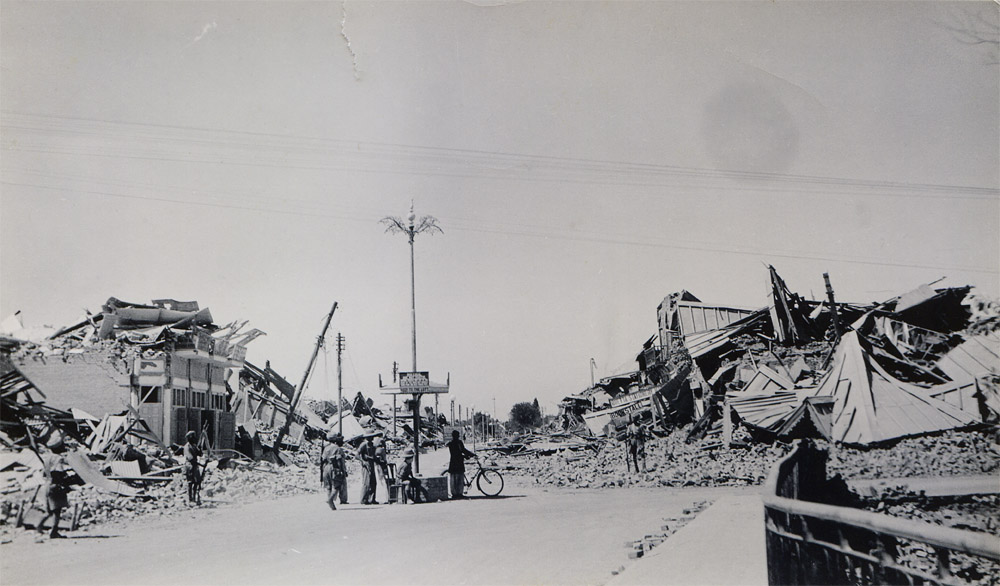 Bruce Road looking from Bridge, Quetta Earthquake 1935