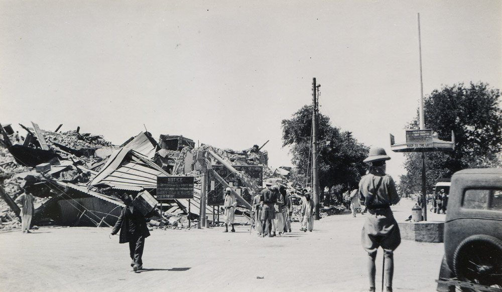Bruce and Sandeman Roads, Quetta Earthquake 1935