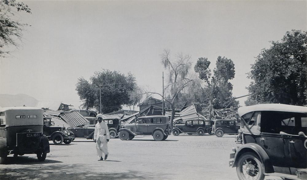 Lorries in Club Compound, Quetta Earthquake 1935