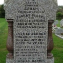 Monumental Inscription for Thomas & Sarah Elizabeth Barnes and son, Thomas