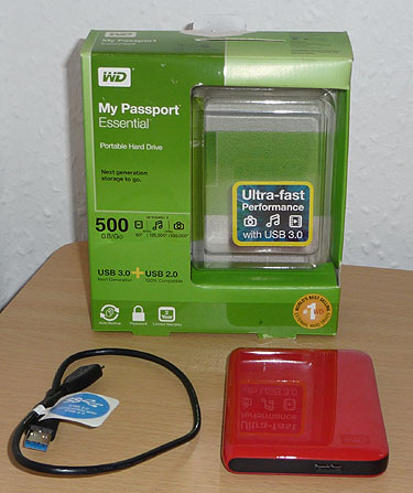 The Western Digital My Passport Essential Portable Hard Drive