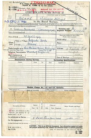 My Grandpa's WWII Service Record
