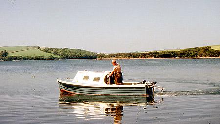 Grandpa on his boat