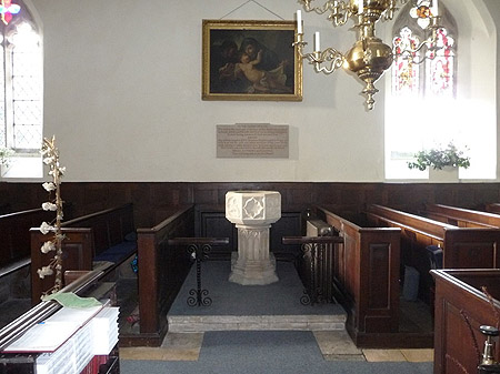 The font in the Church at Arlingham
