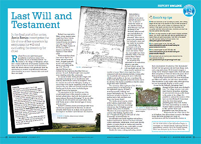 Richard Fryer article in Discover Your History