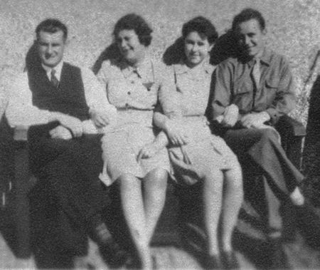 Bill and Phyllis Geake, Eileen Geake and Edward Savory