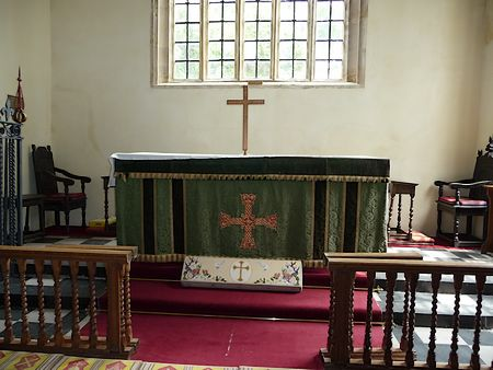 The altar inside St Andrew's Church, Curry Rivel
