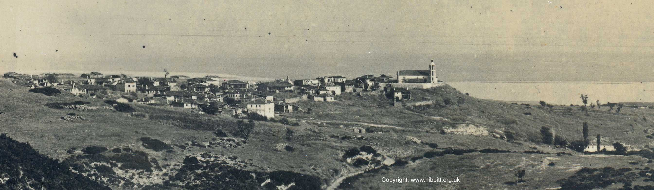 Zoom of the village of Kato Krusoves during the First World War