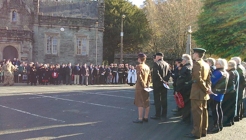 Remembrance Sunday Service at Tavistock 2016