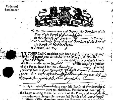 Order of Settlement relating to the Edwards' Family