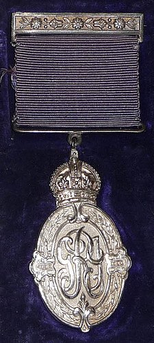The Kaisar-i-Hind Silver medal awarded to Gladys Ellen
