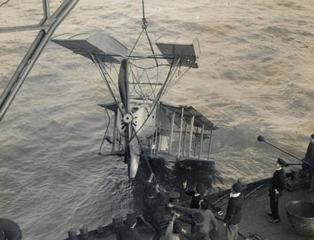 Possibly a photograph of the damaged seaplane reported in the incident of 31st May 1916