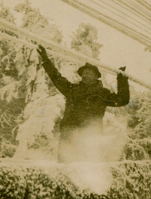Charlie Hibbitt at Princetown during the winter of 1947