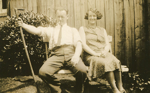 Charlie Hibbitt and his sister, Nell