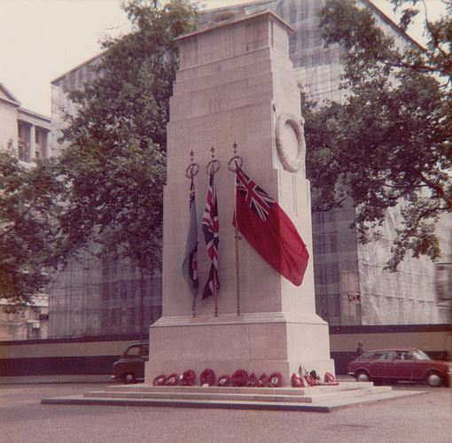 The Cenotaph in Whitehall, London