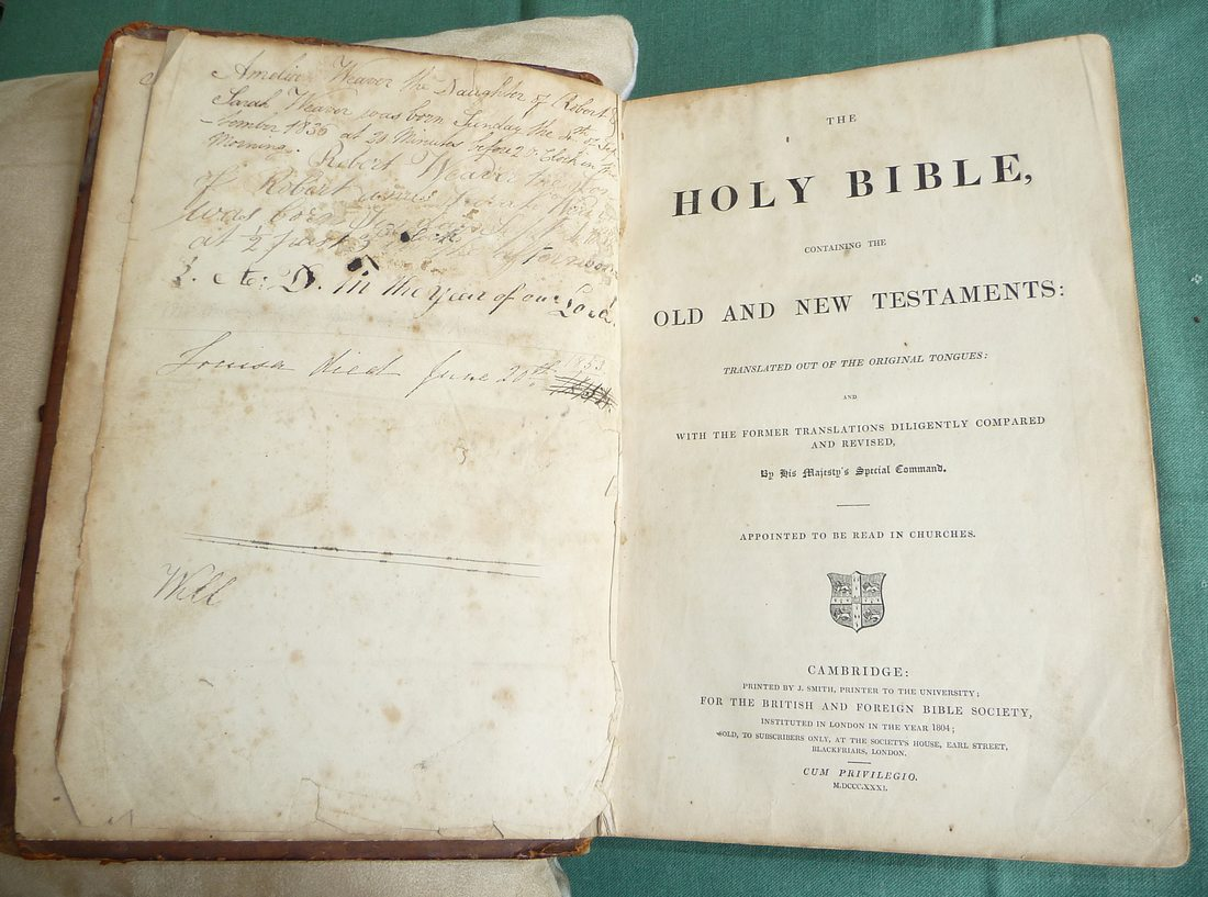 Pages from the Weaver/Street Family Bible