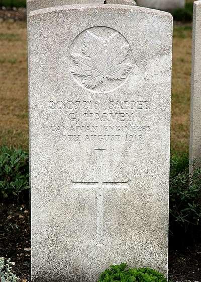 Headstone of George Harvey
