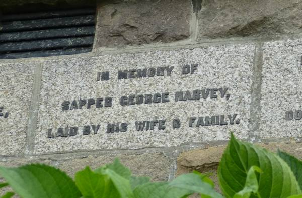 Stone in Memory of George Harvey