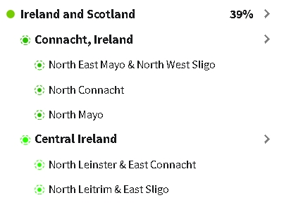 Cousin 1's Irish Ethnicity Results