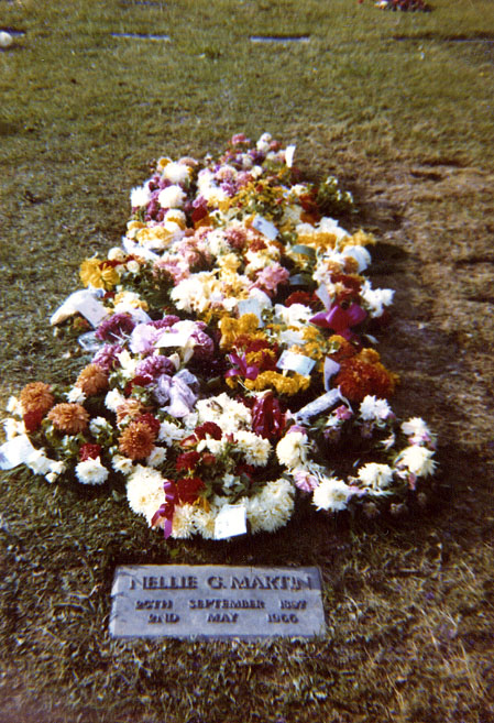 Funeral flowers placed on the grave of Charles George Hibbitt