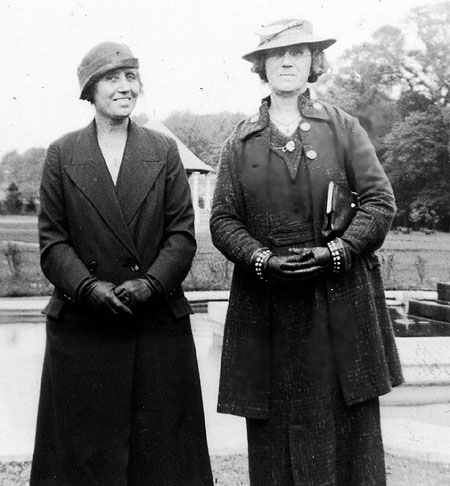 Lily (left) with her sister, Sarah
