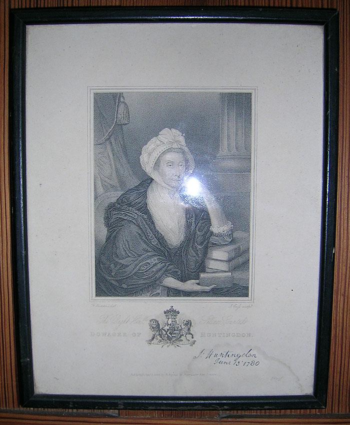 Signed picture of the Countess of Huntingdon at Rodborough Tabernacle