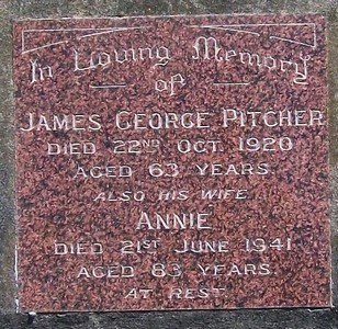 Gravestone of James George Pitcher and Annie (nee Nolan)