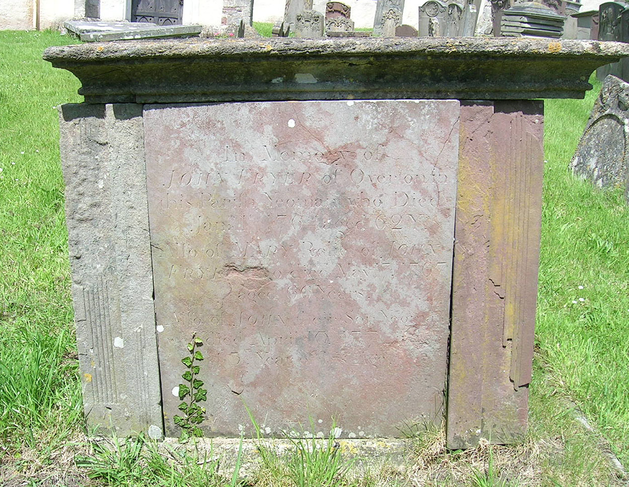 Tomb of John Fryer (b abt. 1695) his wife, Mary, (nee King) and others