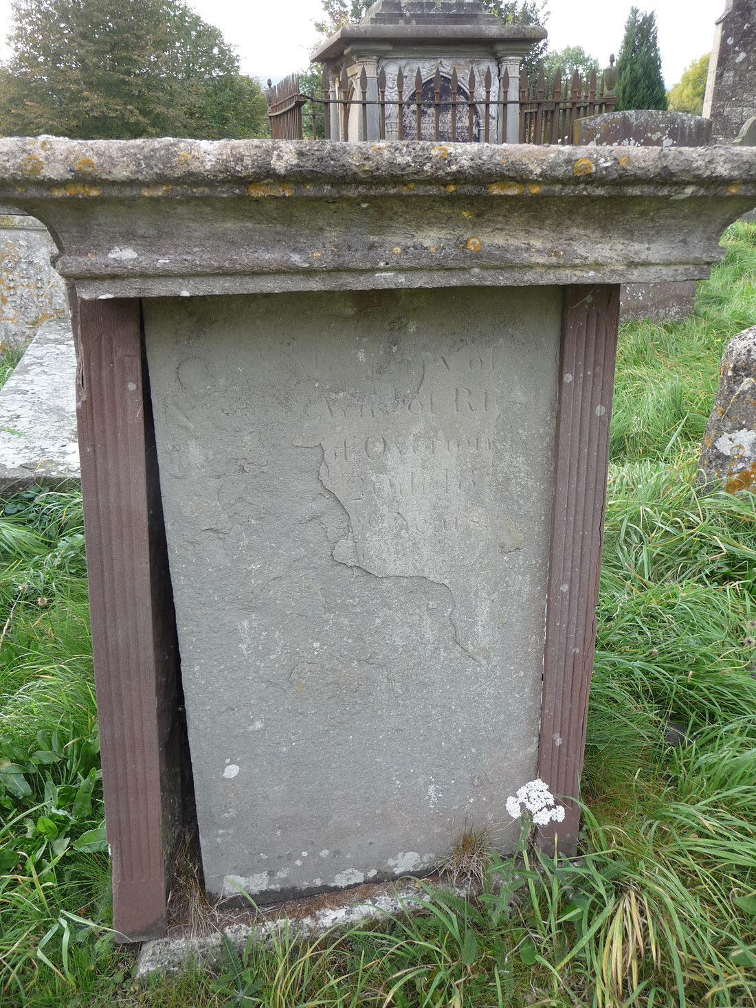Ann Fryer's (nee Jones) inscription on the John Fryer & Mary King Tomb