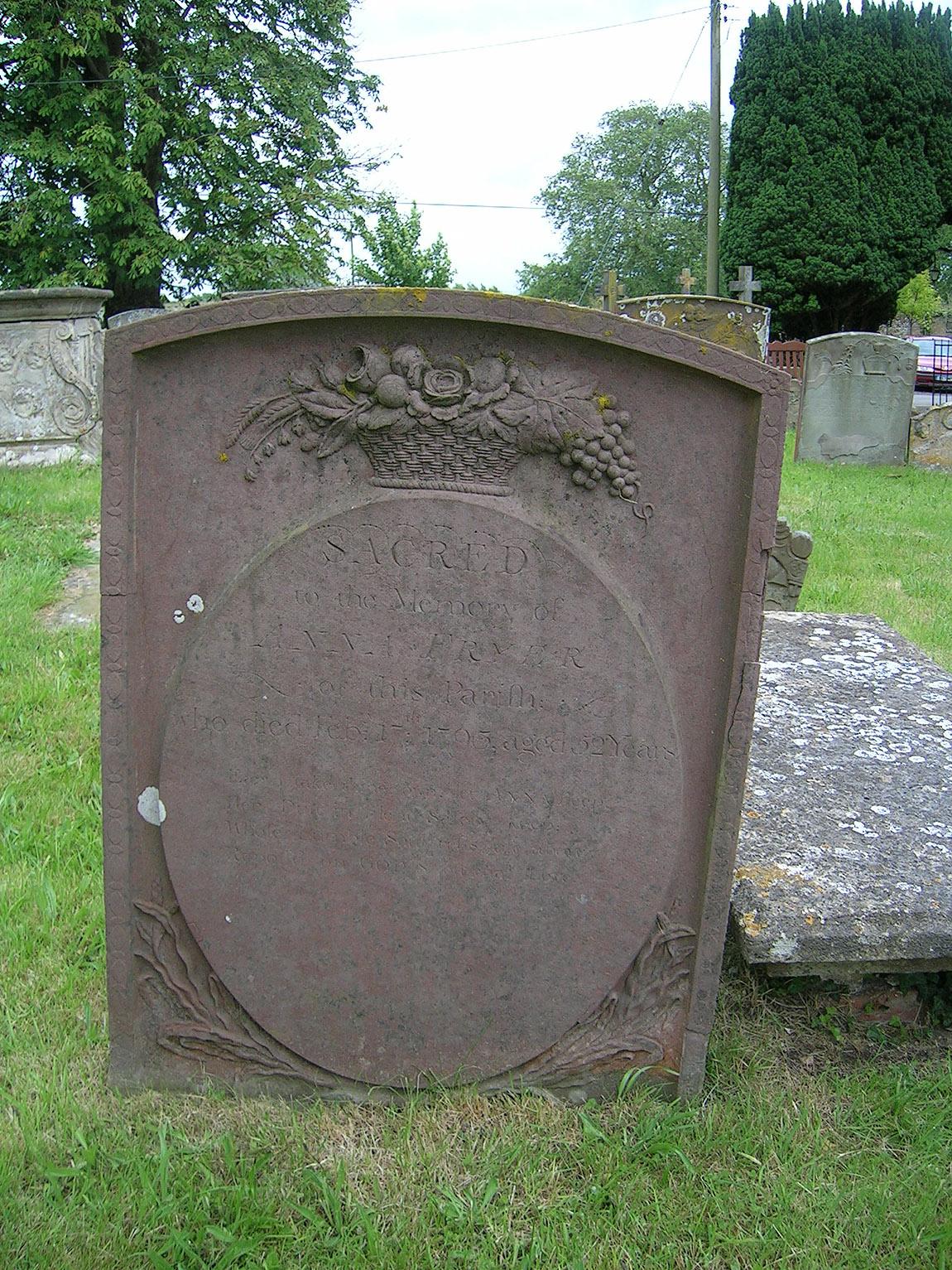 Gravestone of Anna / Hannah Fryer(abt. 1741-1793)