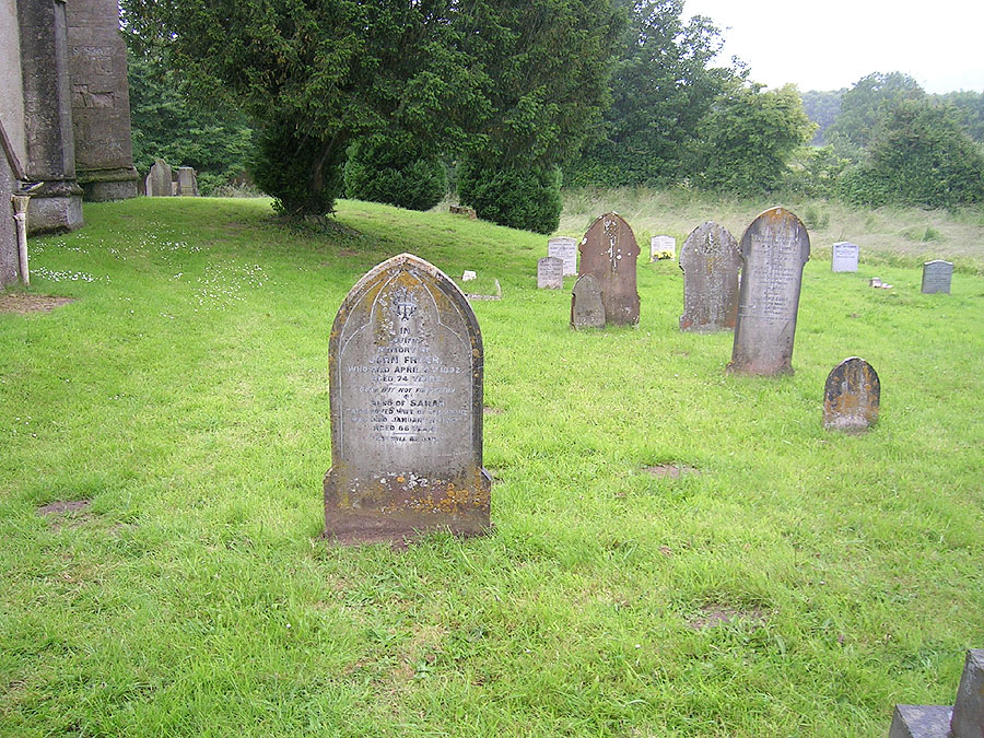 Gravestone of John Fryer (b. abt 1817) and his wife, Sarah (nee Watkins)