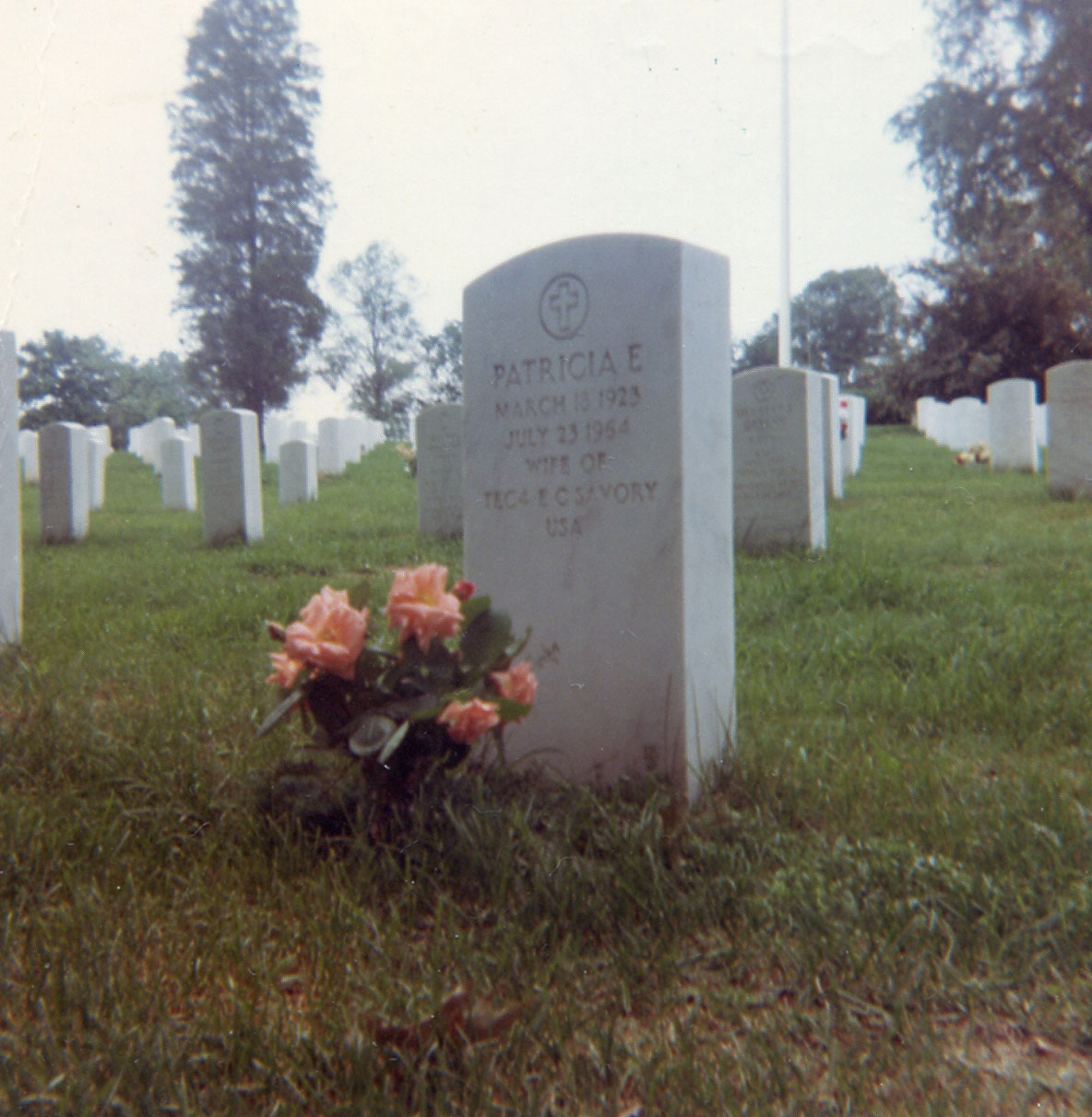 Headstone of Patricia Eileen Savory (nee Geake) - photographed in 1968