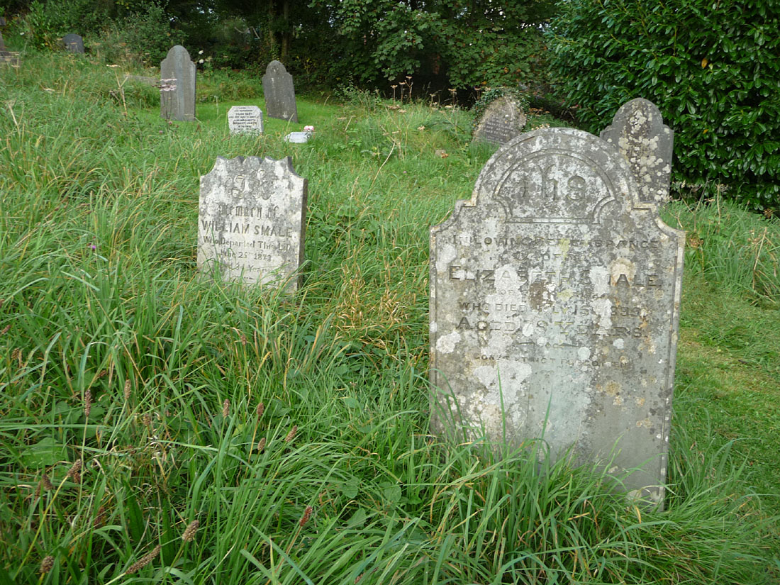 Graves of Elizabeth Smale (nee Horn) &William Smaleat Black Torrington