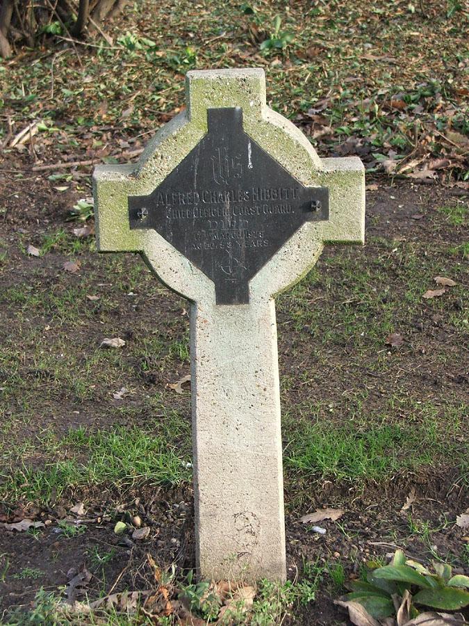 Headstone of Alfred Charles Newbold Hibbitt