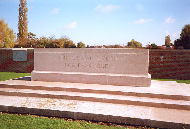 The Stone of Remembrance at Merville
