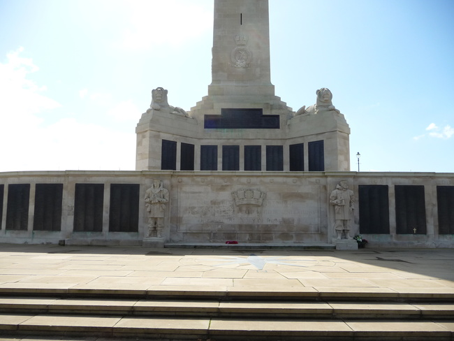The Naval Memorial in Plymouth, Devon