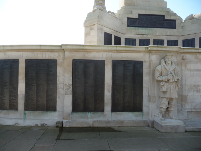 Panels on the Plymouth Naval Memorial