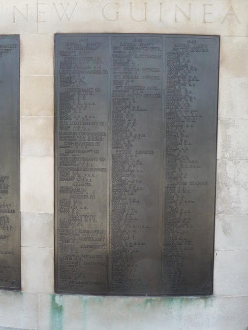 Panel 63 of the Plymouth Naval Memorial