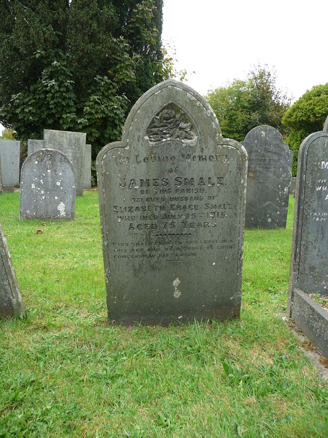 Headstone of James Smale (abt. 1840-1915)