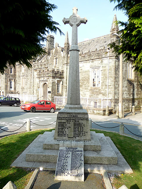 Tavistock War Memorial in Tavistock, Devon