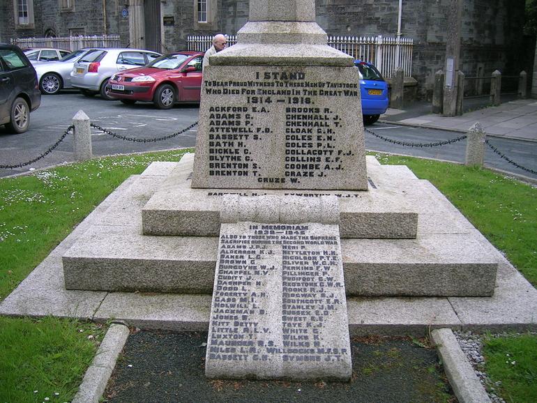 Tavistock War Memorial in Tavistock, Devon