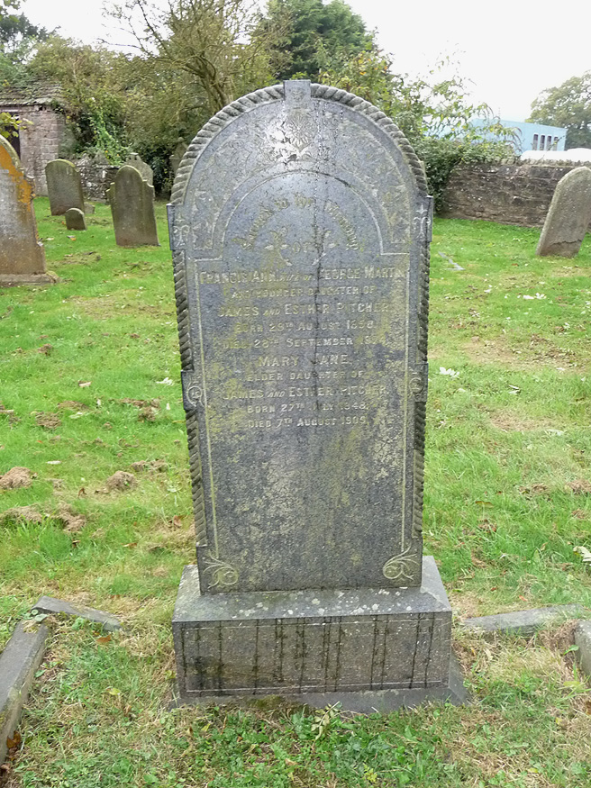 The Pitcher family grave at Woolaston, Gloucestershire