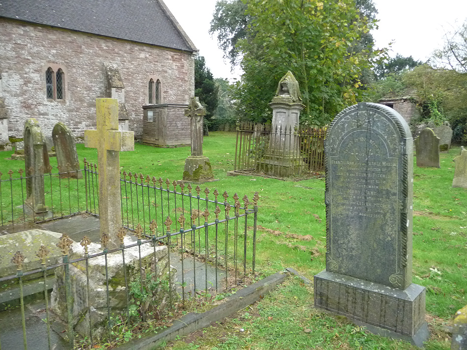 The Pitcher family grave in Woolaston Churchyard, Gloucestershire
