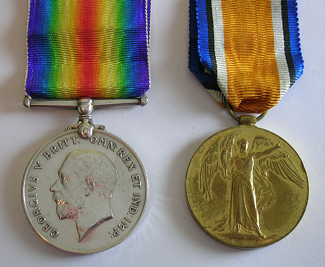 Henry James Weaver's World War I Medals (Obverse)