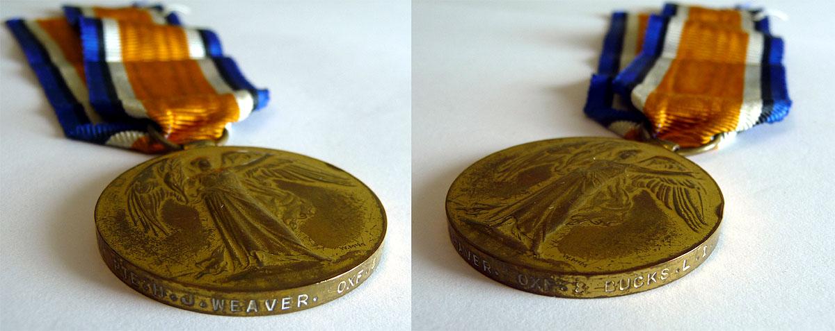 Henry James Weaver's Victory Medal