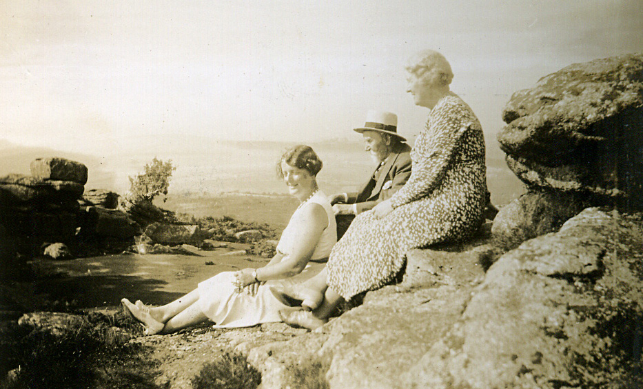 Alice Hibbitt with daughter, Nellie,and Unknown, circa 1930's
