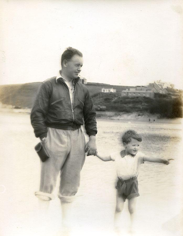 Charles George Hibbitt with his son