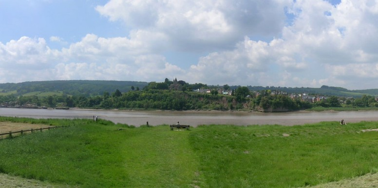 View of Newnham from Arlingham, across the River Severn