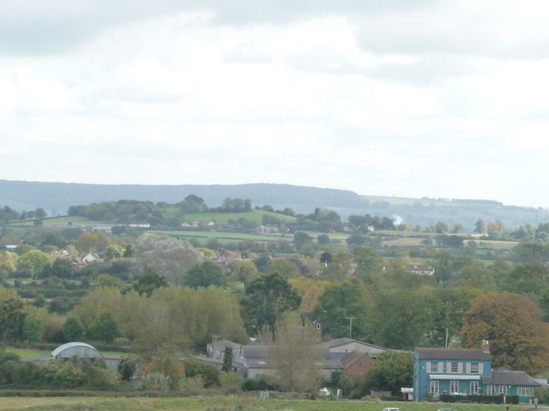 View of Arlingham from Newnham across the River Severn