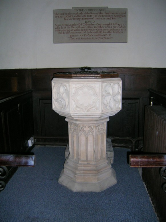 Font - Arlingham Parish Church